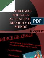 Problemas sociales actuales de México y el mundo