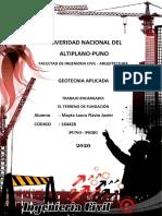 1. TERRENO DE FUNDACIÓN EXPLORACIÓN DE SUELOS Y BANCOS DE MATERIALES