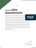 Cosmetics Questionnaire