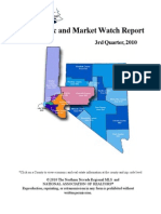 Northern Nevada Economic and Market Watch Report 3rd Quarter 2010