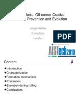 Billet defects - Off-corner cracks formation, prevention and evolution