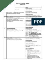 1MIT0110 SSM Study Skills - Week by Week 2008-9