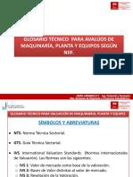 GLOSARIO AVALUOS MAQUINARIA PLANTA Y EQUIPOS