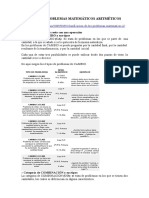 TIPOS DE PROBLEMAS MATEMÁTICOS ARITMÉTICOS