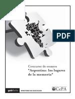 CePA. Argentina, los lugares de la memoria (concurso ensayos, 2007)
