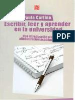CARLINO - Escribir-Leer-y-Aprender-en-La-Universidad CAPITULO 2 (1)