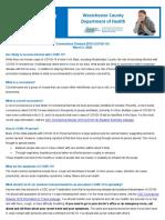 Westchester County Health Department Fact Sheet Regarding COVID-19