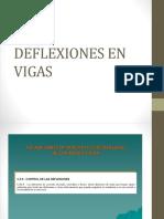 DEFLEXIONES EN VIGAS