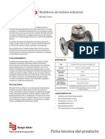 industrial turbo meters product data sheet spanish trb-ds-02390-es