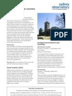 Sydney Observatory Education Programs Brochure September 2010