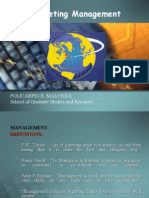 Overview of Marketing Management