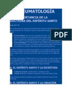 Estudios teologicos de la doctrina LA PNEUMATOLOGÍA