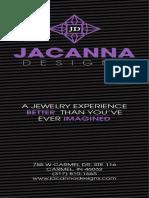 Jacanna Rack Card
