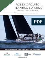 Instrucciones Circuito atlántico sur 2020