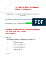 Test Bank for ECON MICRO 6th Edition by William a. McEachern