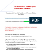 Test Bank for Economics for Managers 3rd Edition Paul Farnham
