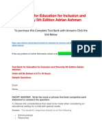 Test Bank for Education for Inclusion and Diversity 5th Edition Adrian Ashman.docx