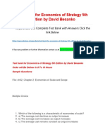 Test bank for Economics of Strategy 5th Edition by David Besanko.docx
