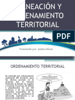 Planeación y ordenamiento territorial