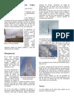 torres e mastros para suporte de antenas