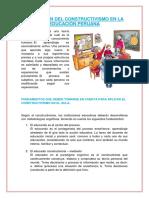 APLICACIÓN DEL CONSTRUCTIVISMO EN LA EDUCACIÓN PERUANA