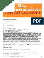 ezequiel catro Candidature musiciens FIMU 2020