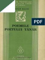 Stefan Baciu, Poemele poetului tanar