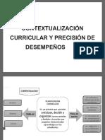 Contextualización curricular y precisión de desempeños  1