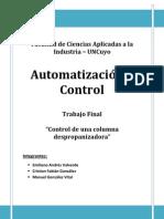Trabajo Final Automatización - Control Columna Despropanizadora