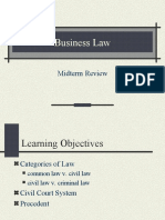 Business Law Midterm Review