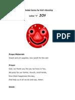 Kid's Mesage on Joy
