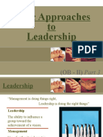 3 Basic Approaches to Leadership
