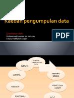 Kaedah pengumpulan data