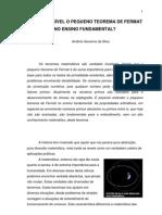 Artigo e Possivel o Pequeno Teorema de Fermat No Ensino Fundamental Antonio Silva Polo Carpina