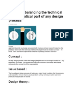 5 Tips for balancing the technical and theoretical part of any design process