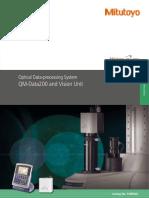 Mitutoyo - Procesor Danych QM-Data i Vision Unit - E14008(2) - 2019 En