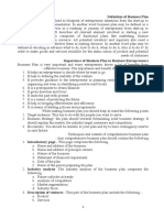 Business Plan for Enterprenuer