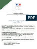 Communiqué de la préfecture du Lot-et-Garonne du jeudi 5 mars