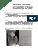 Relatório de inspeção do piso em cerâmica do prédio 20