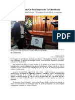 Cenizas de Ernesto Cardenal reposarán en Solentiname