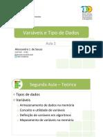 Aula3 - Variaveis e Tipo de dados