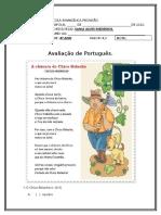 Português 4º ano Prova Fevereiro.