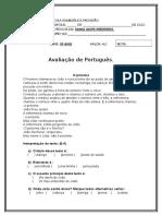 Português 5º ano prova