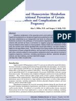Methionine and Homocysteine Metabolism