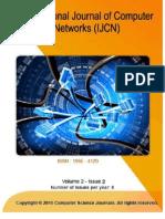 International Journal of Computer Networks (IJCN), Volume (2)