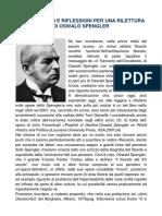 ALCUNI SPUNTI E RIFLESSIONI PER UNA RILETTURA DI OSWALD SPENGLER (1)