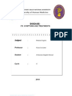 Disease. Symptoms and Treatments