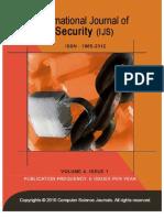 International Journal of Security (IJS), volume (4)