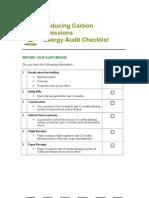 Energy Audit Checklist