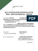 UAUIM PROGRAM SUSTINERE1 proba 1 aprilie  2020